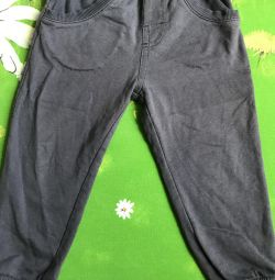 Knitted pants, height 86