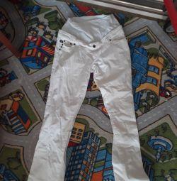 Λευκά παντελόνια μητρότητας