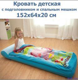 Кровать детская + подголовник спальный мешок 66802