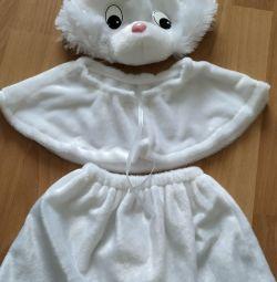 Bunny fur carnival costume for girls