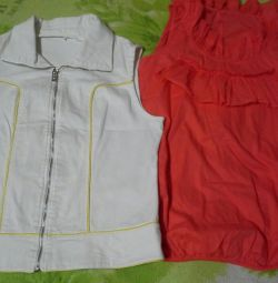 Vest and t-shirts size 40-42.