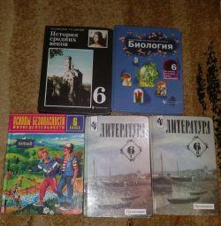 Textbooks Grade 6, Biology, History, Liter, OBZH