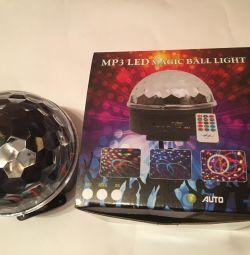 Music Disco ball + remote and flash drive