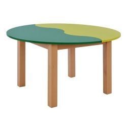 TABLE CHILD HM10186 GREEN CREAM WITH NATURE