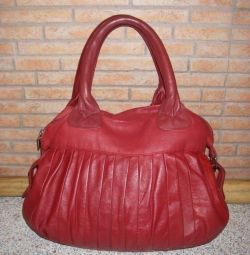 Bag red, soft like leather