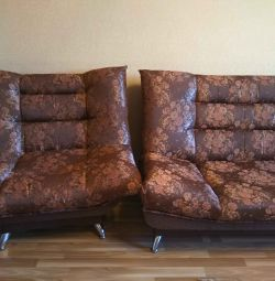 Sofa and 2 armchairs