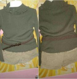 Skirt + shorts + sweater 92-104