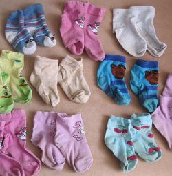 Children's socks 11 pieces. 10 months - 1.5 years