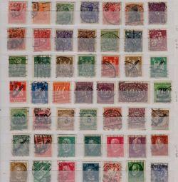 Німеччина Рейх. Набір 100 гашeних марок