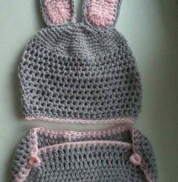 Bunny kostüm 0-6 ay