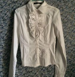 Blouse White Stretch