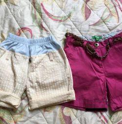 Pantaloni scurți sunt noi. 122-128
