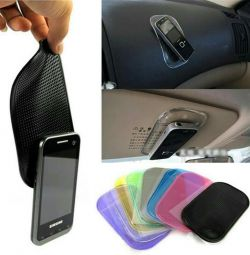 Sticky car mats in different colors