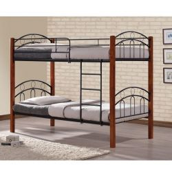 Bed Bunny Simple Metal Wood 90x190