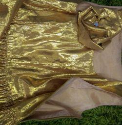 Платье нарядное! из парчи с шелком
