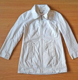 Women's white windbreaker, 44-46 size