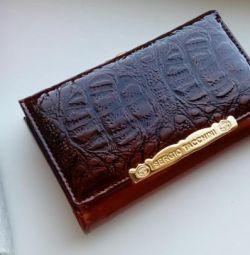 Πορτοφόλι από γνήσιο δέρμα Sergio Tacchini