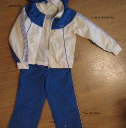 Suit for sport glissade of raincoat fabric
