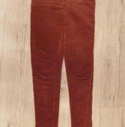 Corduroy trousers Zara