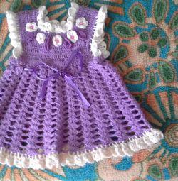 Dress, warm, knitted, handmade, excellent