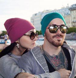 Pălărie de toamnă (beanie) turcoaz color №9