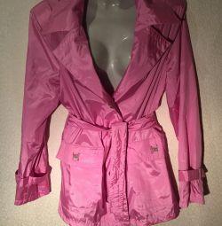 Модный Розовый плащ
