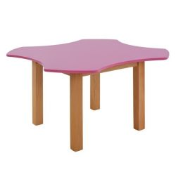 TABLE CHILD HM10184 PINK INS. CYCLE WITH NATURAL