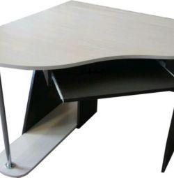 New angular computer table Oak wenge / milk
