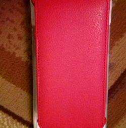 Acoperiți telefonul nou roșu