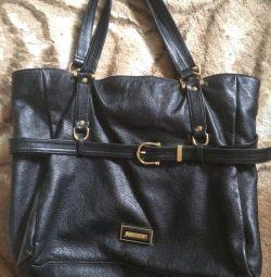 Πολυτελής δερμάτινη τσάντα Burberry. Το πρωτότυπο. 2η1.