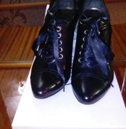Ayak bileği botları deri