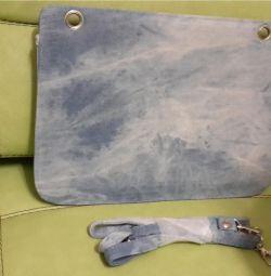 Клатч  сумка джинс