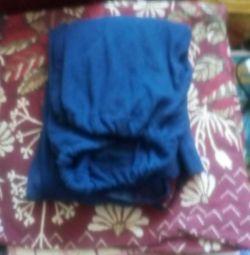 Sweatpants dark blue pants, knitted, new!
