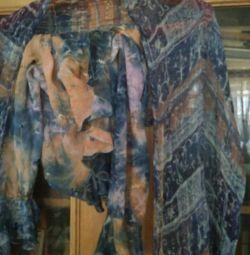 Шелковая блузка с шарфом