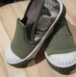 Training shoes for children.