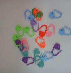 Пластмассовые маркеры для вязания