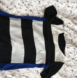 Chiffon T-shirt with stripes