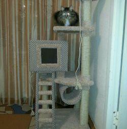 Комплекс для кішок з Когтеточку і будиночком