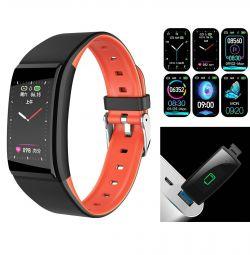 Bra Brățară cu ceas inteligent B86 IPS USB 140mAh Nou