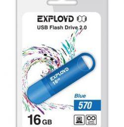 USB stick USB 2.0 16Gb Exployd 570 albastru