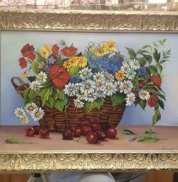 Pictura de flori sălbatice