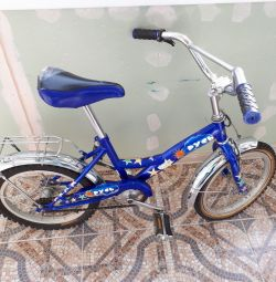 A children's bicycle for a boy.