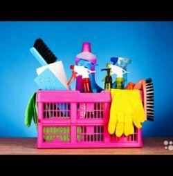 Καθαρισμός διαμερισμάτων, σπιτιών, γραφείων, δωματίων