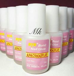 Adhesive for the design of nails