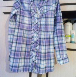 Туніка-сорочка в клітку.
