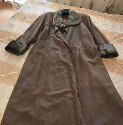 Palton de ploaie / haina folosit din piele autentică