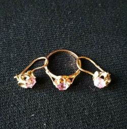 Gold ring and earrings sets