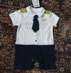 Brand cotton overalls from 9 months to 2 years