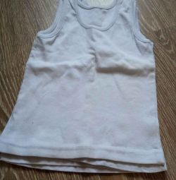 Children's white T-shirts 98-104