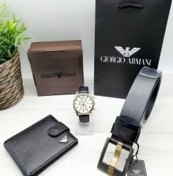 Men's set of watches, purses, belts, cartons